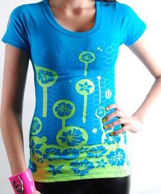 Cyberdog- T-shirt Blommor blå