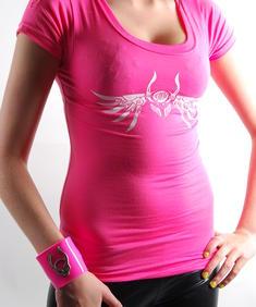 Cyberdog- T-shirt Rosa/vit