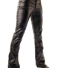 Girl Leather jeans-QOD