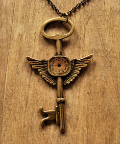 Steam punk- Flying key Necklace