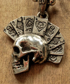 Alchemy - Card skull Necklace