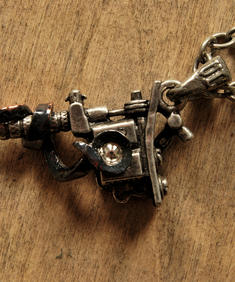 Alchemy - Tattoo gun Necklace