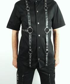 Phaze-Leather /Canvas shirt
