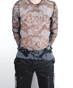 Tripp-Fishnet Skull Shirt