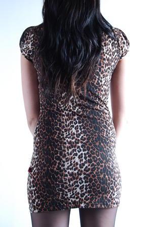Klänning-Leopard Brown-Tripp