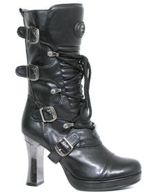 New Rock Shoes- Feminie Metall
