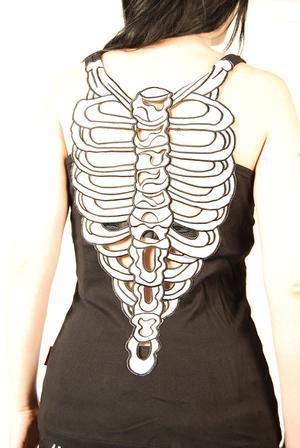 Queen of Darkness-Skeleton Back Top